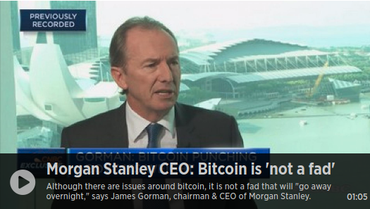 Morgan Stanley chief says bitcoin 'doesn't quite deserve the attention it's getting'