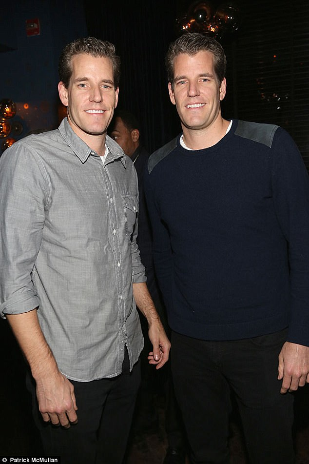 Winklevoss twins cut up their Bitcoin key and keep the pieces in different bank vaults across America to protect their $1.3billion digital fortune