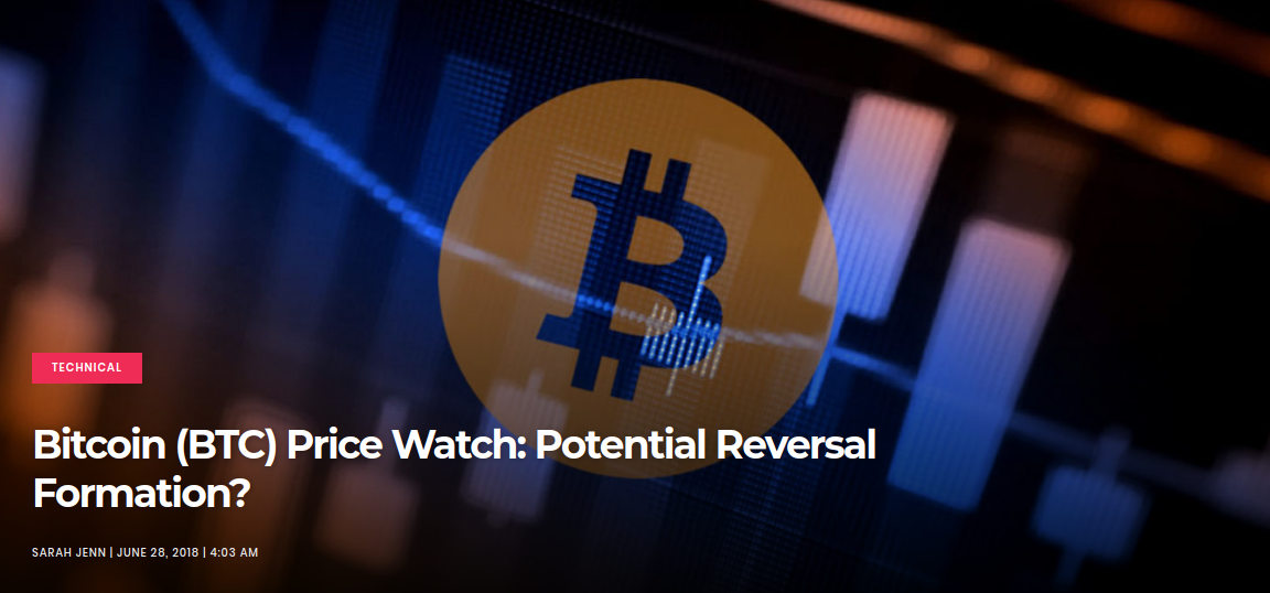 Bitcoin (BTC) Price Watch- Potential Reversal Formation