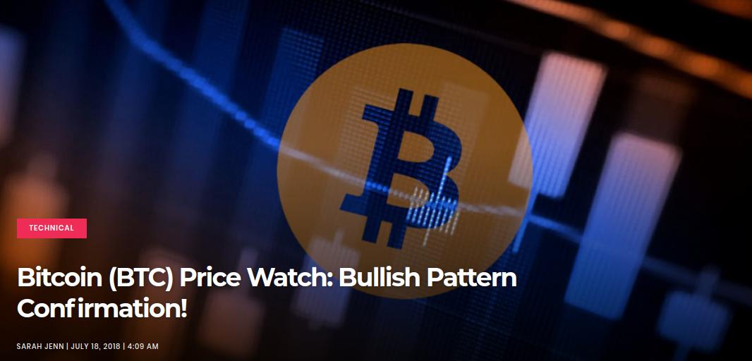 Bitcoin (BTC) Price Watch - Bullish Pattern Confirmation