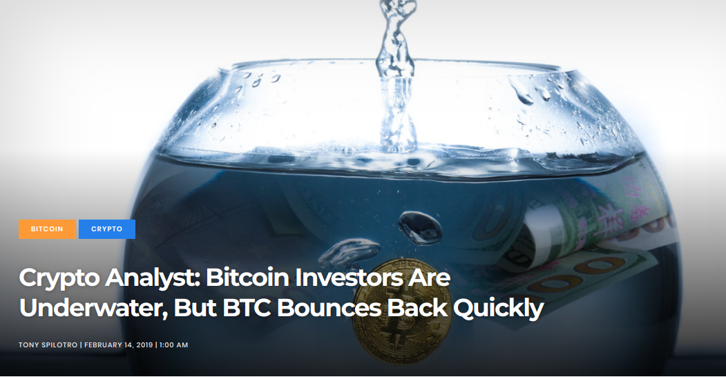 Crypto Analyst - Bitcoin Investors Are Underwater, But BTC Bounces Back Quickly