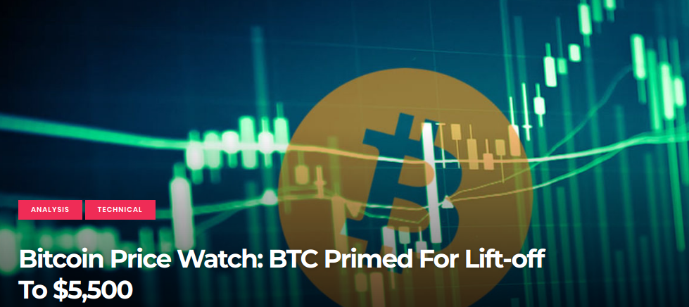 Bitcoin Price Watch - BTC Primed For Lift-off To $5,500
